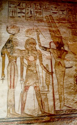 Isis, Ramesses and Min
