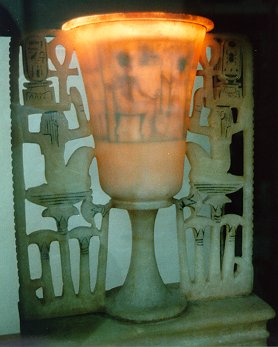 Chalice-shaped lamp