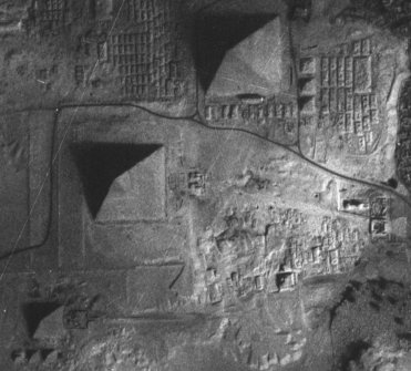 Aerial view of Giza