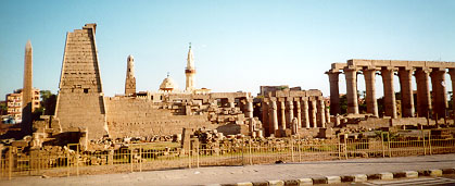 The temple of Amun at Luxor