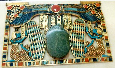Winged scarab pectoral