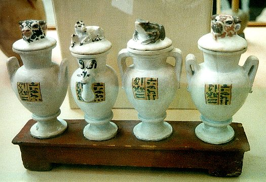 Four vases inscribed to Yuya