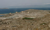 View from Mt. Kynthos to the S-SW
