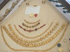 Necklaces of gold and glass paste