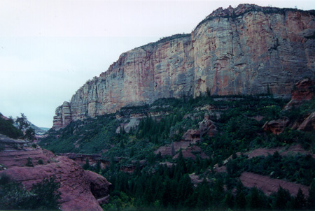 Towering cliffs